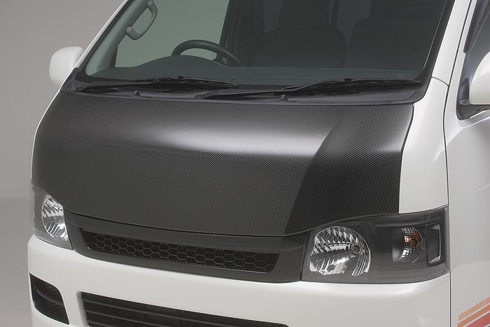 boxystyle ボクシースタイル ユーロカーボンボンネット ハイエース 200系 4型 標準 ナロー