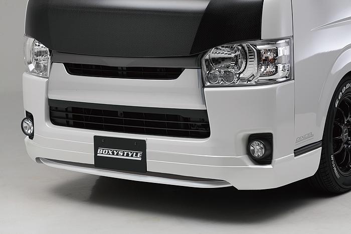 boxystyle ボクシースタイル フロントハーフスポイラー 未塗装 ハイエース 200系 4型 標準 ナロー