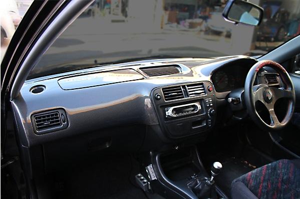 チャージスピード シビック EK4/9 ダッシュボードカバー+エアーバッグカバー カーボン製 CHARGESPEED