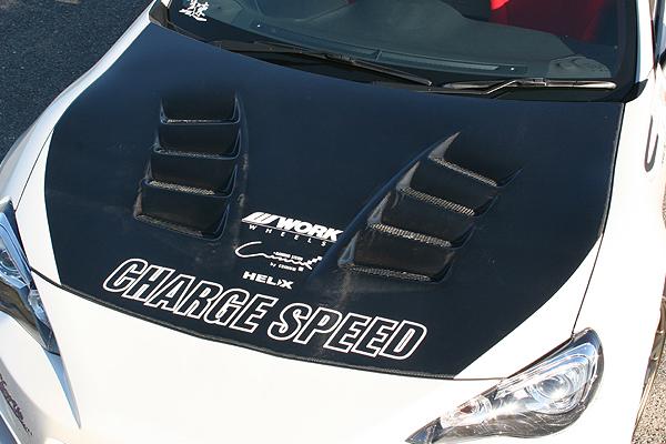 チャージスピード 86/ハチロク ZN6 ボンネット ダクト付 カーボン製 CHARGE SPEED 撃速CHARGESPEED 撃速チャージスピード