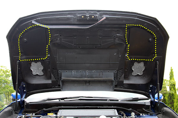 チャージスピード WRX S4 VAG ボンネットレインカバー FRP/黒ゲル CHARGE SPEED BottomLine ボトムライン