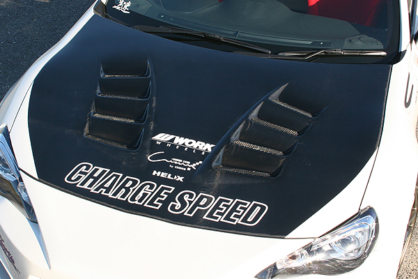 チャージスピード BRZ ZC6 E型 F型 ボンネット ダクト付 カーボン CHARGE SPEED ボトムライン BottomLine