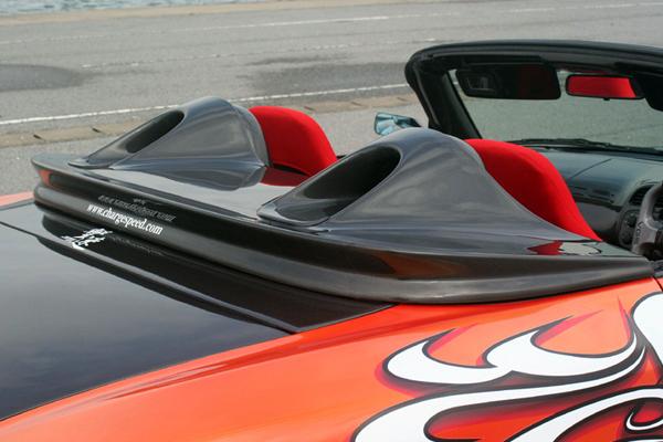チャージスピード S2000 AP1 2 03/10~ 後期 トノカバー FRP 未塗装 CHARGE SPEED ボトムライン BottomLine