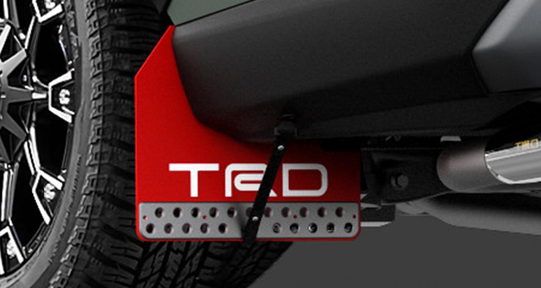 TRD RAV4 MXAA52 MXAA54 マッドフラップ レッド MS328-42001 配送先条件有り
