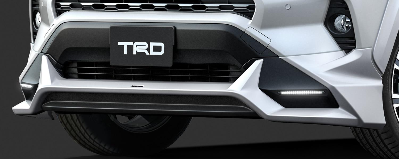 TRD RAV4 MXAA52 MXAA54 フロントスポイラー LED付 ICS付車 未塗装 MS341-42003-NP 配送先条件有り