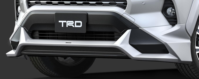 TRD RAV4 MXAA52 MXAA54 フロントスポイラー LED無 ICS付車 未塗装 MS341-42005-NP 配送先条件有り