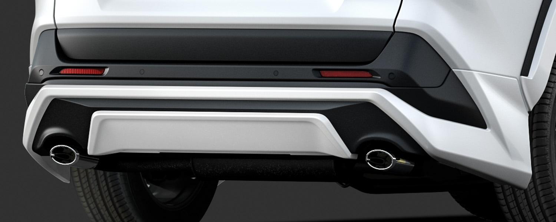 TRD RAV4 MXAA52 MXAA54 リヤバンパースポイラー ICS付車 未塗装 MS343-42002-NP 配送先条件有り