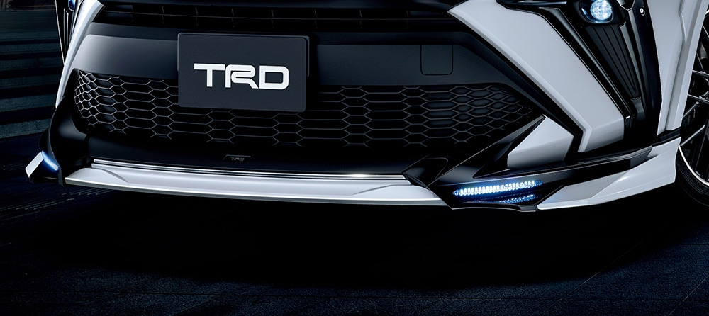 TRD C-HR 1#系 5#系 フロントスポイラー LED付 ICS&PVM付車用 未塗装 MS341-10007-NP 配送先条件有り