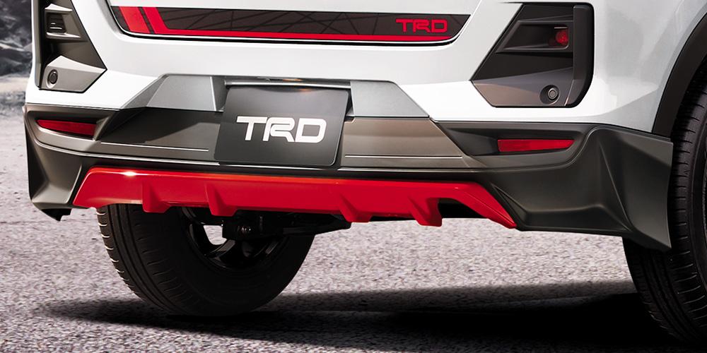 TRD ライズ A200A A210A リヤバンパースポイラー パノラミックビュー付車 MS343 - B1009 配送先条件有り