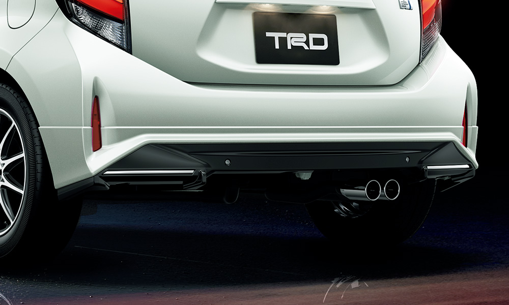 TRD アクア NHP10 系 リヤバンパースポイラー 塗装済 MS343-52001 配送先条件有り