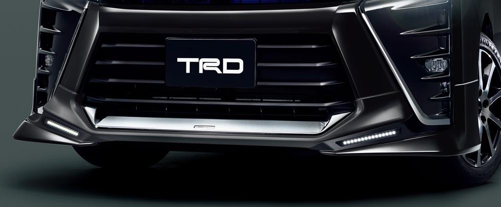 TRD ヴォクシー 80 系 フロントスポイラー LED付 塗装済 MS341-28048 配送先条件有り