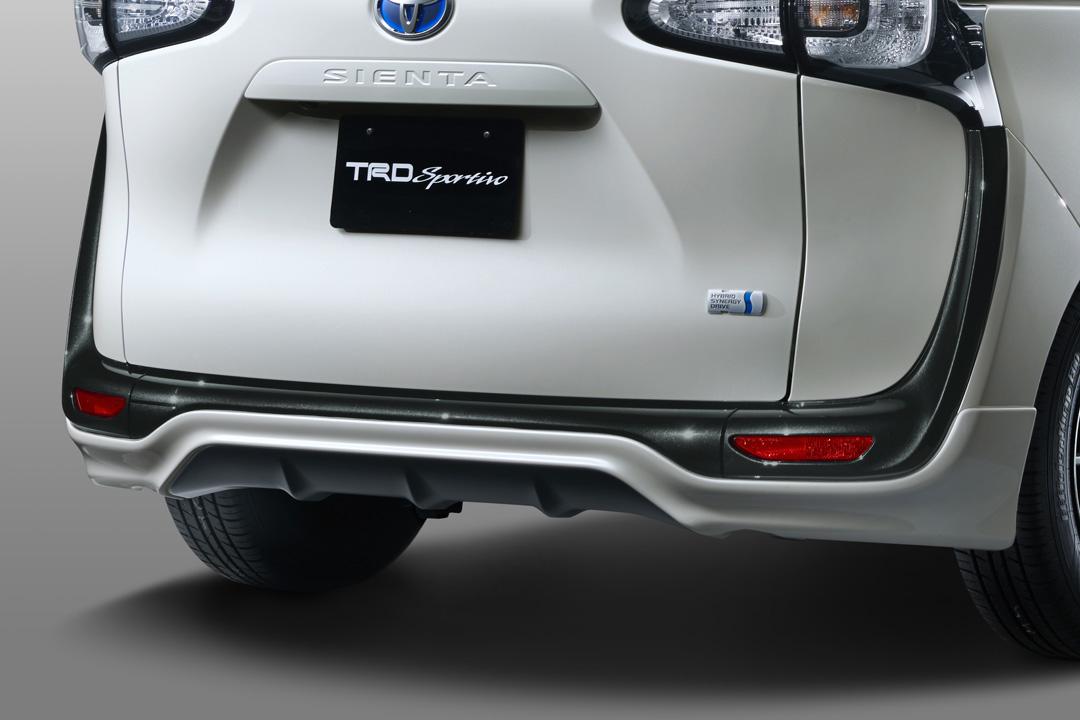 TRD シエンタ 170 系 リヤバンパースポイラー 未塗装 MS313-52017-NP 配送先条件有り