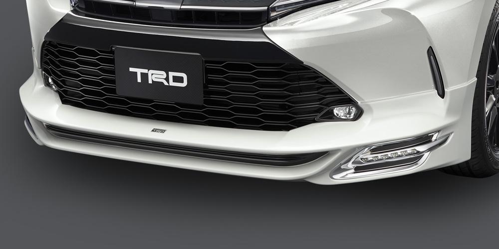 TRD ハリアー 60系 ASU60W AVU65W ZSU60W フロントスポイラー Ver.1 LED付 塗装済 MS341-48008 配送先条件有り