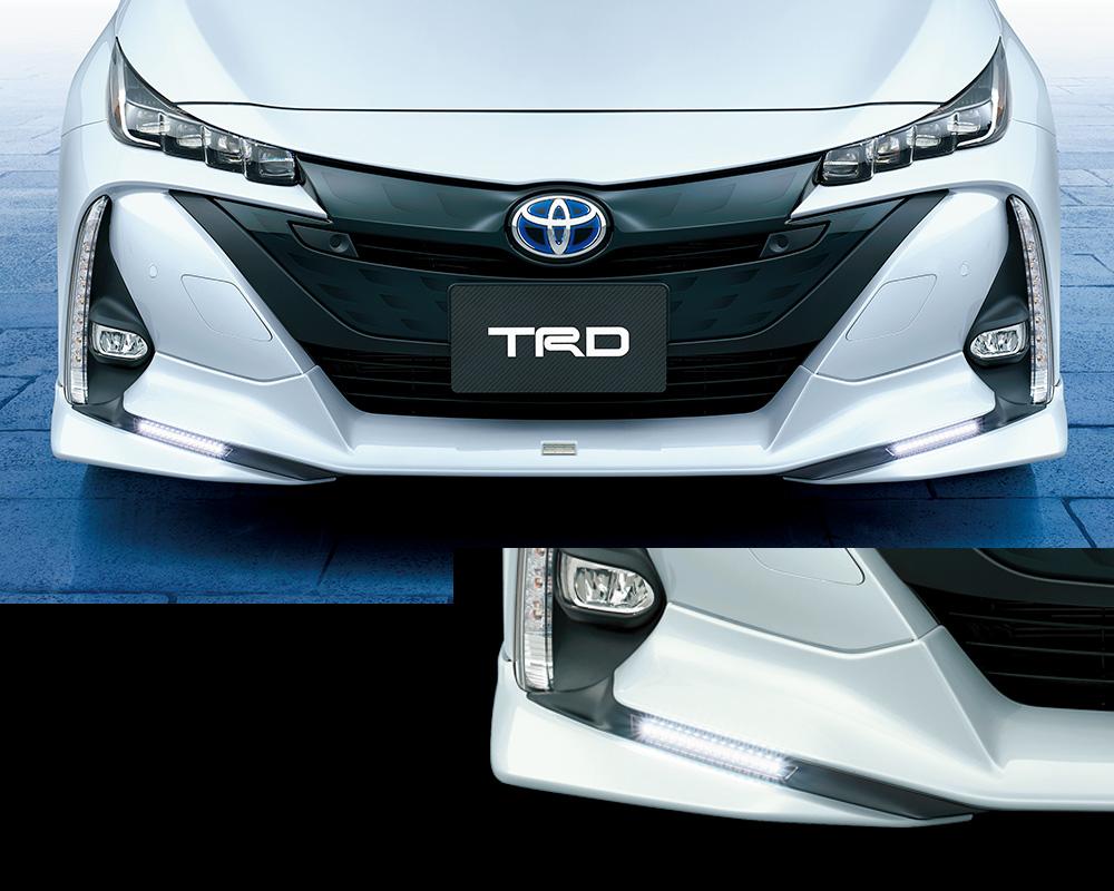 TRD プリウスPHV 50系 ZVW50 フロントスポイラー LED付 塗装済 MS341-47015 配送先条件有り