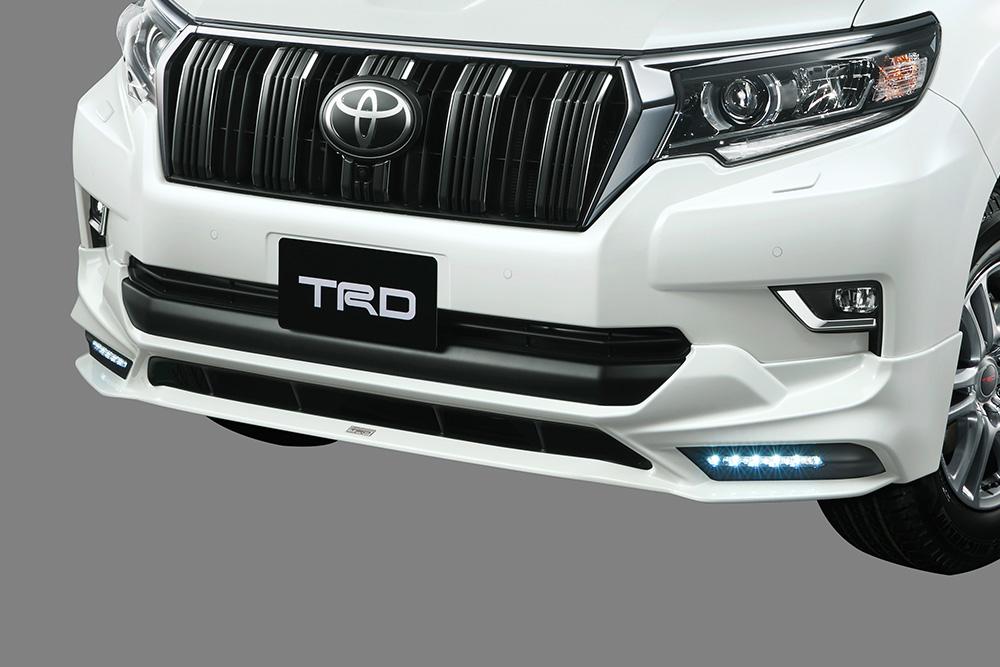 TRD ランドクルーザープラド 150系 GDJ150W 151W / TRJ150W フロントスポイラー LED付 塗装済 MS341-60001 配送先条件有り