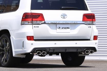 JAOS ジャオス ランドクルーザー 200系 15.08~ リヤハーフスポイラー BATTLEZxEX typeZS-4マフラー装着車 未塗装 B026050 配送先条件有り