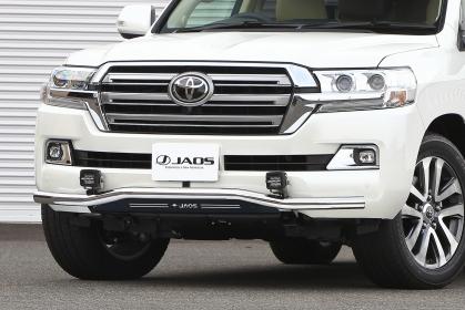 JAOS ジャオス ランドクルーザー 200系 15.08~ フロントスキッドバー ポリッシュ/ブラック B150050B 配送先条件有り
