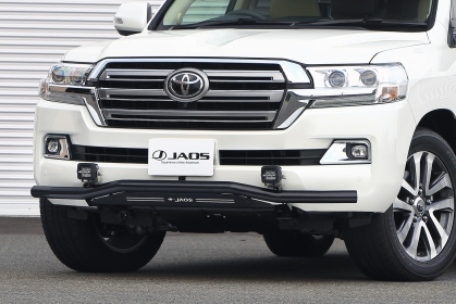 JAOS ジャオス ランドクルーザー ランクル 200系 15.08~ フロントスキッドバー ブラック/ブラック B150050D 配送先条件有り