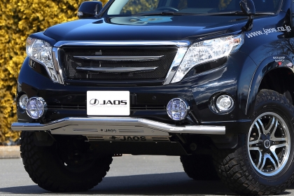 JAOS ジャオス プラド 150系 13.10~17.08 フロントスキッドバー ポリッシュ/ブラスト B150066A 配送先条件有り
