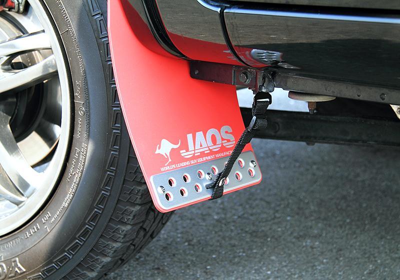 JAOS ジャオス ジムニー JB23系 98.10~18.02 マッドガード3 フロントセット レッド B621512F 配送先条件有り