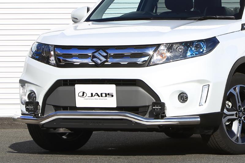 JAOS ジャオス エスクード Y#21S系 15.10~18.10 フロントスキッドバー ポリッシュ/ブラック B150506B 配送先条件有り