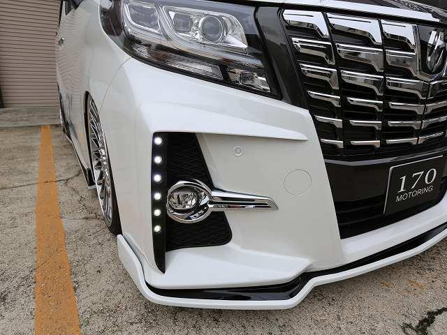 シックスセンス アルファード 30系 Sグレード 純正バンパー用LEDデイランプキット 2色塗り分け塗装済み SIXTH SENSE JOULE ジュール