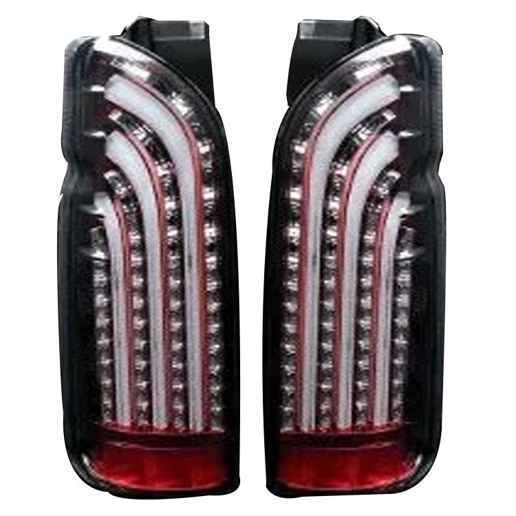 ラブラーク ハイエース 200系 1~3・4型 ライトセイバー LEDテールランプ インナーレッド × スモーク 415 STUDIO DESIGN LOVELARK