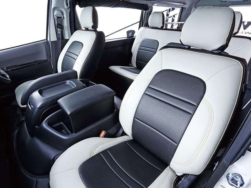 ユーアイビークル ハイエース 200系 コンフォートシートカバー フロント2席分 UI-vehicle ユーアイ 個人宅発送不可