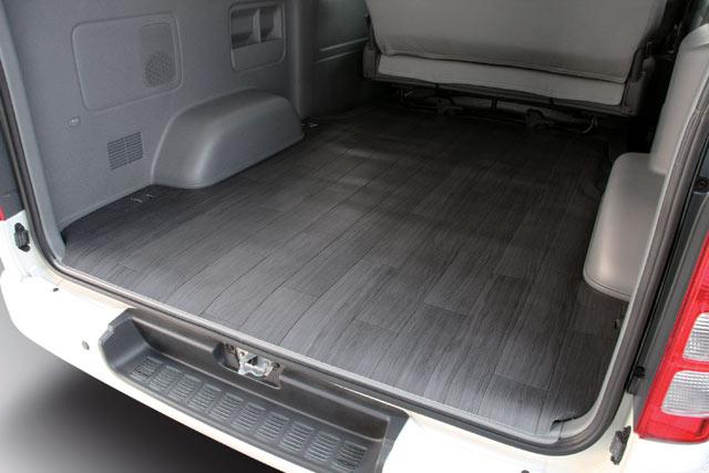 ユーアイビークル ハイエース 200系 ワゴン CFカーゴマット ロングタイプ 黒ミカゲ柄 2.3厚 UI-vehicle ユーアイ 個人宅発送追金有