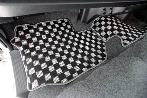ユーアイビークル ハイエース 200系 標準 ナロー フロアマット 格子柄/フロント UI-vehicle ユーアイ 個人宅発送追金有