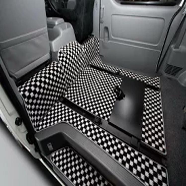ユーアイビークル ハイエース 200系 ワイド フロアマット 格子柄/スライドレール装着車用 F/Rセット UI-vehicle ユーアイ 個人宅発送追金有