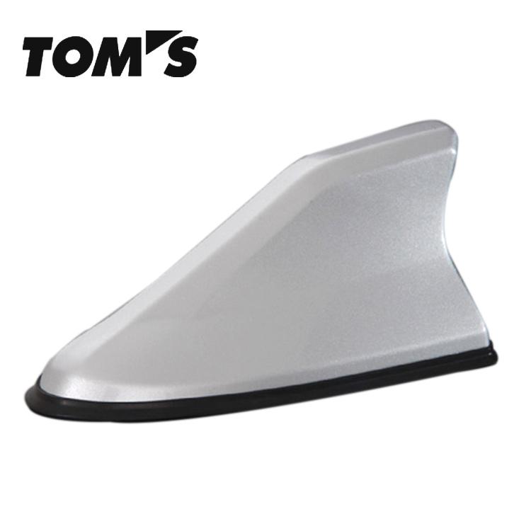 TOM'S トムス ヴィッツ KSP130 NCP131 NSP130系 シャークフィンアンテナ 76872-TS001-W2 塗装済 ホワイトパールクリスタルシャイン(070)