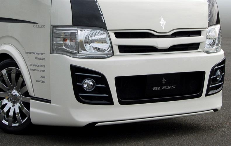 BLESS CREATION ハイエース 200系 3型前期 標準 ナロー フロントバンパースポイラー 未塗装 ブレス クリエイション