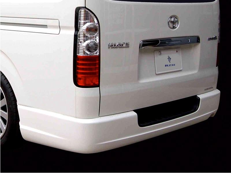 BLESS CREATION ハイエース 200系 1型 2型 3型 標準 ナロー リアバンパースポイラー Ver.1 未塗装 ブレス クリエイション