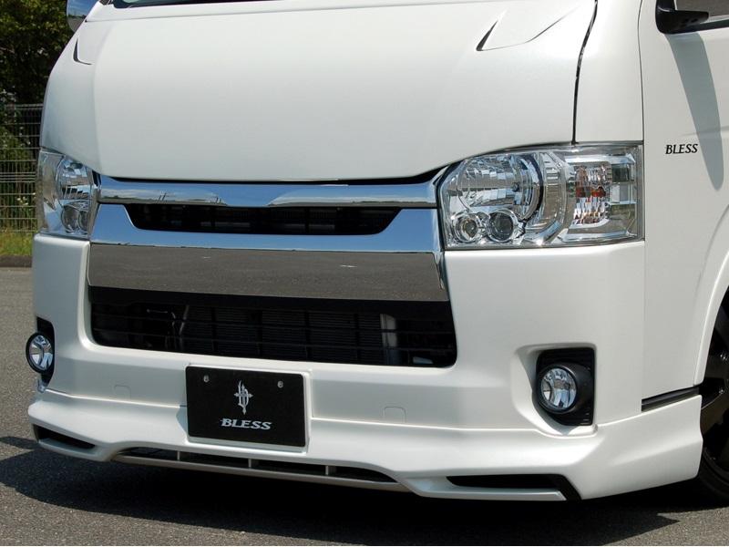 BLESS CREATION ハイエース 200系 4型 標準 ナロー フロントリップスポイラー 塗装済 ブレス クリエイション