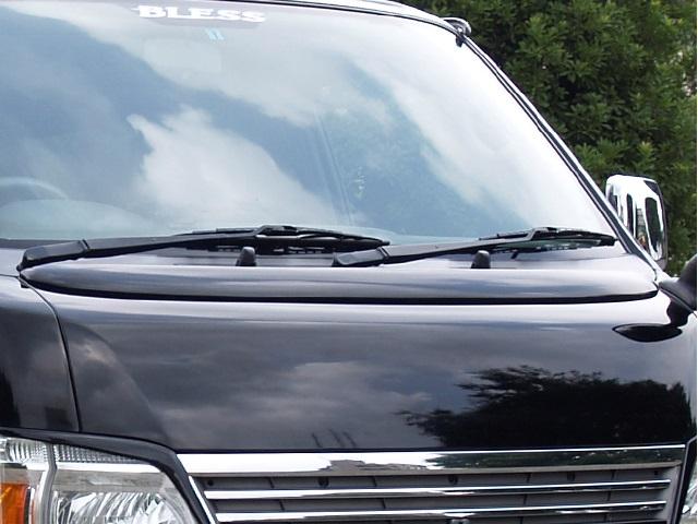 BLESS CREATION キャラバン E25 後期 ボンネットスポイラー 未塗装白ゲルコート仕上げ ブレス クリエイション