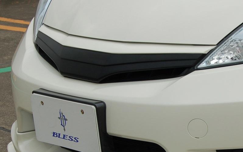 BLESS CREATION フィットシャトル GP2 前期 フロントグリルカバー 未塗装黒ゲルコート ブレス クリエイション