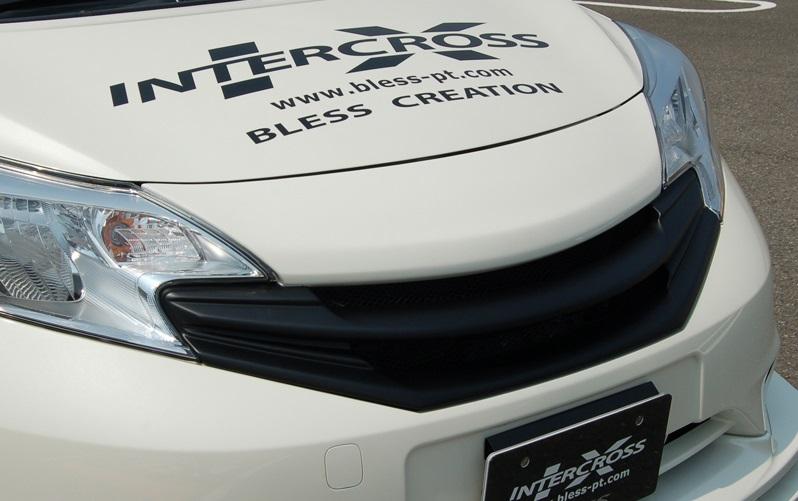 BLESS CREATION ノート E12 フロントグリル 標準タイプ カメラ無し車用 未塗装白ゲルコート ブレス クリエイション