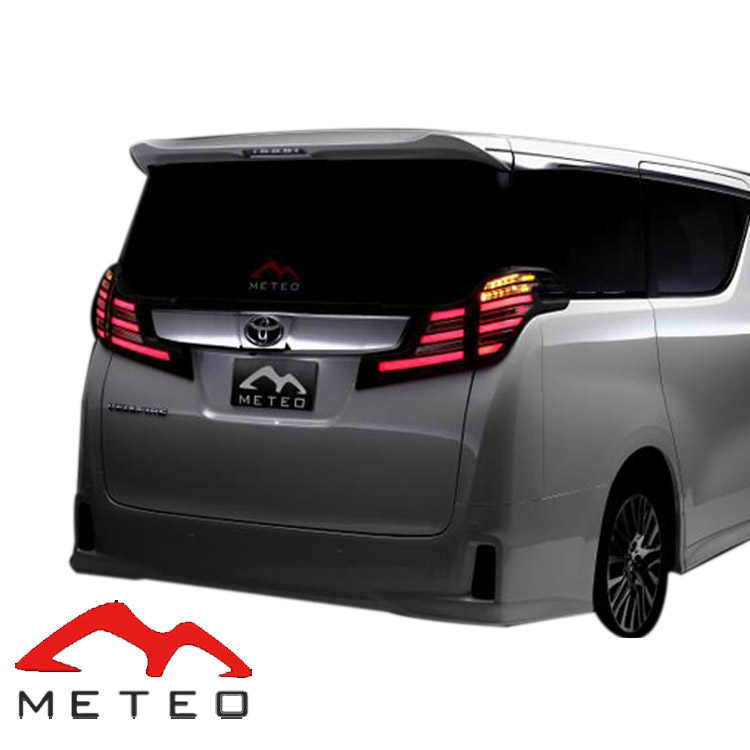 METEO メテオ ヴェルファイア ヴェルファイアハイブリッド 30系 LEDテール スモークテール メッキカバー TY-VE30-S-CAC