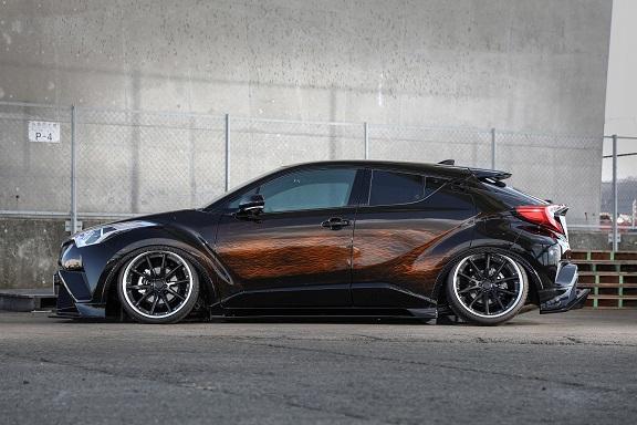 KUHL RACING C-HR サイドステップ SG 塗り分け塗装 クール レーシング