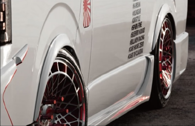 BEECAS ハイエース 200系 1 2 3 4型共通 標準車 ワイド車共通 オーバーフェンダー ver1 ビーキャス K-BREAK ケイブレイク