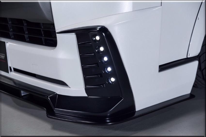S A D カスタムジャパン ハイエース 200系 4型 標準 ナロー 専用LEDデイライトキット S.A.D CUSTOM JAPAN AGENT エージェント