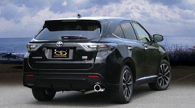 ガナドール ハリアー DBA-ZSU60W GDE-648 マフラー GANADOR バーテックス 4WD SUV Vertex 4WD SUV 配送先条件有り
