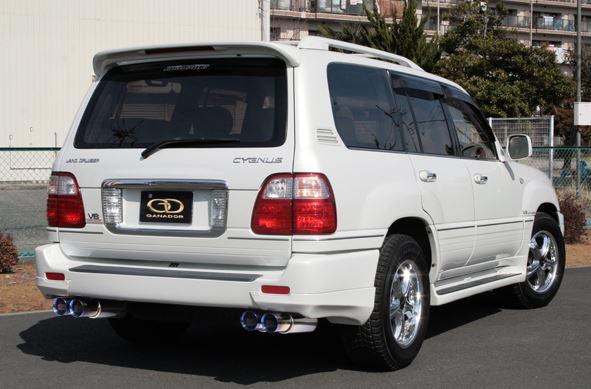 ガナドール ランクル ランドクルーザー GH-UZJ100W GF-UZJ100W GVE-002BL マフラー GANADOR バーテックス 4WD SUV Vertex 4WD SUV 配送先条件有り