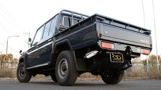 ガナドール ランクル ランドクルーザー 70系 CBF-GRJ79K GDE-147 マフラー GANADOR バーテックス 4WD SUV Vertex 4WD SUV 配送先条件有り