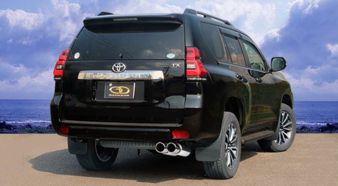 ガナドール ランクルプラド ランドクルーザープラド CBA-TRJ150W GVE-029PO マフラー GANADOR バーテックス 4WD SUV Vertex 4WD SUV