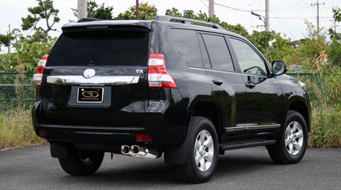 ガナドール ランクルプラド ランドクルーザープラド CBA-TRJ150W GDE-145 マフラー GANADOR バーテックス 4WD SUV Vertex 4WD SUV 配送先条件有り