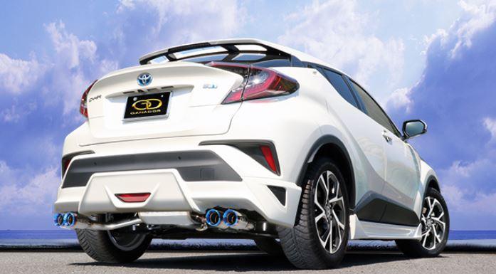 ガナドール C-HRハイブリッド DAA-ZYX10 GVE-031DBL マフラー GANADOR バーテックス 4WD SUV Vertex 4WD SUV