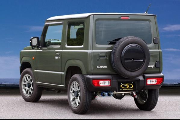 ガナドール ジムニー 3BA-JB64W マフラー 左ダブル出し フルサイズ センターパイプ付 GDE-158QST GANADOR Vertex 4WD SUV バーテックス 4WD SUV