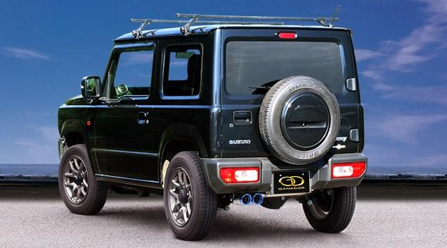 ガナドール ジムニー 3BA-JB64W マフラー 左ダブル出し リヤピース GDE-157ST GANADOR Vertex 4WD SUV バーテックス 4WD SUV 配送先条件有り